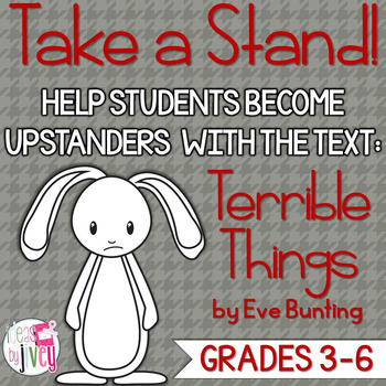 Terrible Things Mentor Text Lesson: Upstander vs. Bystande