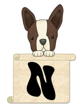 Terriers in the School Dog Bulletin Board Helpers
