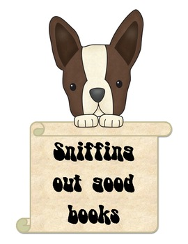 Terriers in the School Dog Library Signs