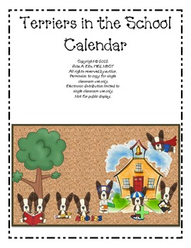 Terriers in the School Dog Themed Calendar