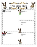 Terriers in the School Dog Themed Weekly Blank Newsletter