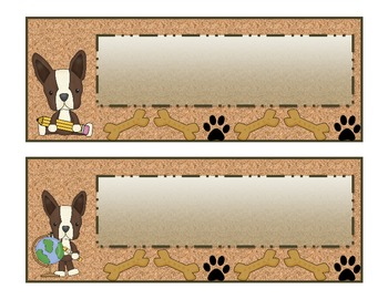 Terriers in the School Dog Themed Word Wall