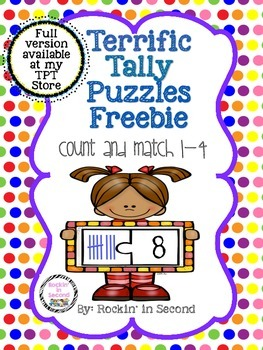 Terrific Tally Marks Puzzles FREEBIE