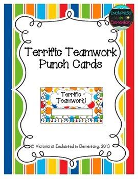 Terrific Teamwork Punch Cards