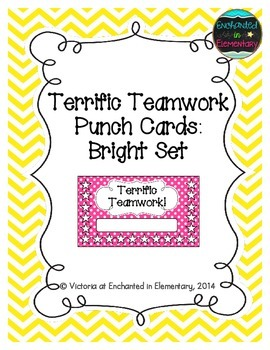 Terrific Teamwork Punch Cards: Bright Set