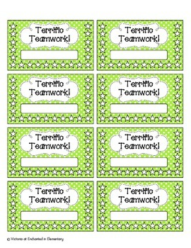 Terrific Teamwork Punch Cards: Bright Set