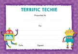 Terrific Techie! Certificate
