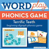 Terrific Teeth Beginning Digraphs Phonics Game - Words The