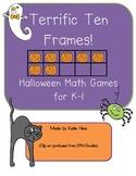 Terrific Ten Frames for Halloween!