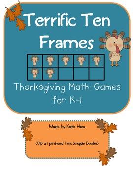 Terrific Ten Frames for Thanksgiving!