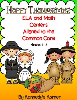 Thanksgiving Centers: Literacy & Math ~