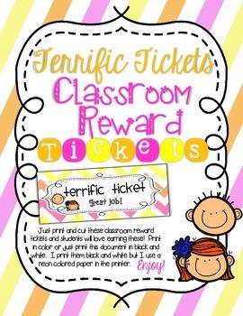 Terrific Tickets- Classroom Management and Reward Prize