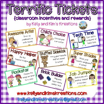 Terrific Tickets {classroom incentives and rewards}