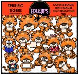 Terrific Tigers Clip Art Bundle {Educlips Clipart}