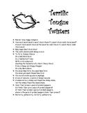 Terrific Tongue Twisters!