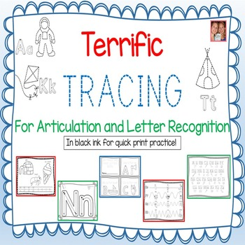 Terrific Tracing For Articulation And Letter Recognition - NO PREP!