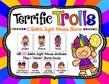 Terrific Trolls - A Dolch Sight Words Game with all 220 Dolch Words