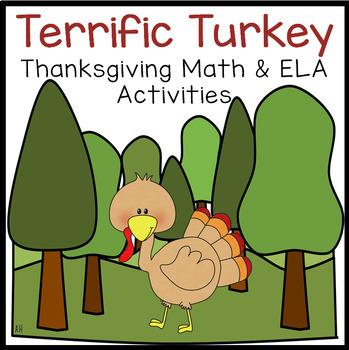 Terrific Turkey Math & Literacy Center Time Activity Pack!