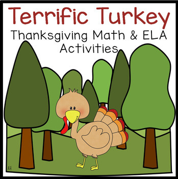 Terrific Turkey Math & Literacy Center Time Activity Pack!