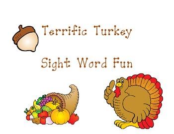 Terrific Turkey SIght Word Fun