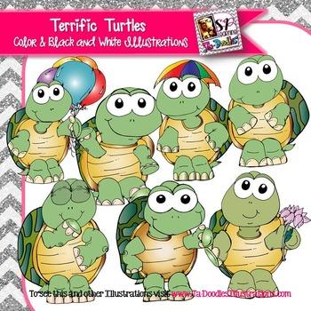 Terrific Turtles clip art