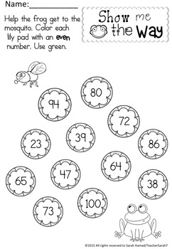 Even or Odd Worksheets (Terrific Twins Line)