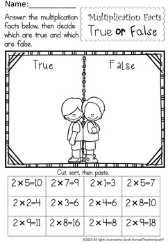 Multiplication Facts Worksheets (Terrific Twins Line)