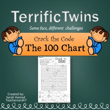The 100 Chart Worksheets (Terrific Twins Line)