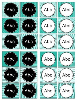 Terrifically Teal Classroom Labels