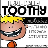 Terrifically Toothy Teeth Math and Literacy Activities packet