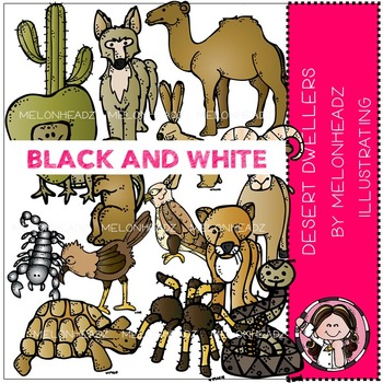 Terri's Desert Dwellers by Melonheadz BLACK AND WHITE