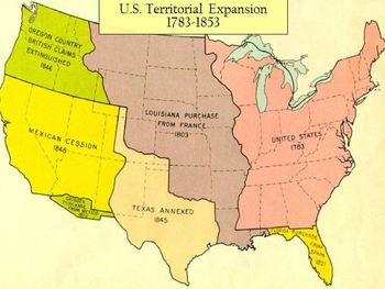 Territorial Expansion of The United States 1783-1853 Inter