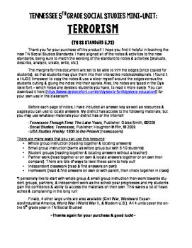 Terrorism Mini-Unit