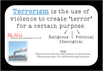 Terrorism Poster