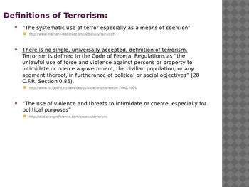 Terrorism Power Point