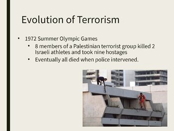 Terrorism PowerPoint, Guided Notes, and Completed Notes