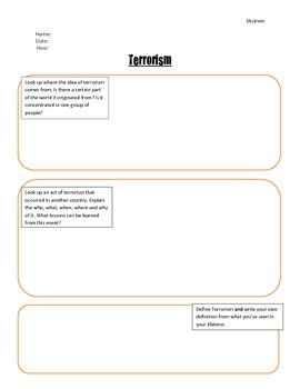 Terrorism Research Response Paper