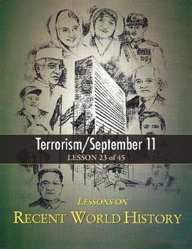Terrorism/September 11 9/11, RECENT WORLD HISTORY LESSON 23/45 Reading+Crossword