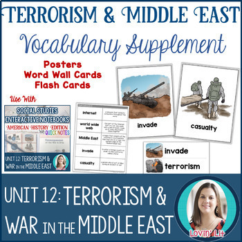 Terrorism & War in the Middle East UNIT BUNDLE Modern American History