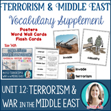 Terrorism & War in the Middle East Vocabulary Posters, Fla