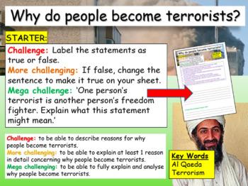 Terrorism - terrorists or freedom fighters?