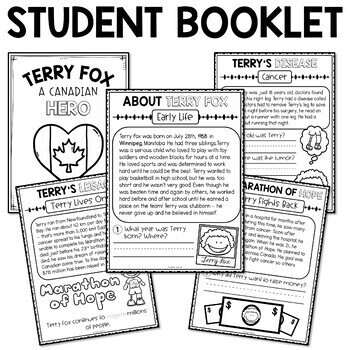 Terry Fox Activities for First Grade