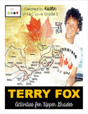Terry Fox {Activities for Upper Grades}