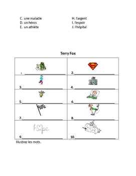Terry Fox Activity Booklet French