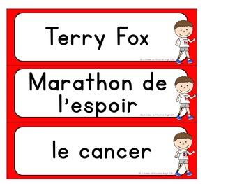 Terry Fox Activity Booklet in French