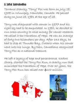 Terry Fox Canadian Hero - Social Studies Unit