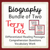 Terry Fox Differentiated Biographical Texts and Activities