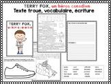 Terry Fox-FRENCH activities-Texte troué, écriture, affiche