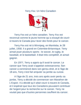 Terry Fox French reading