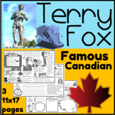 Terry Fox Inquiry Learning Activity Mat {Activities 3 pages}